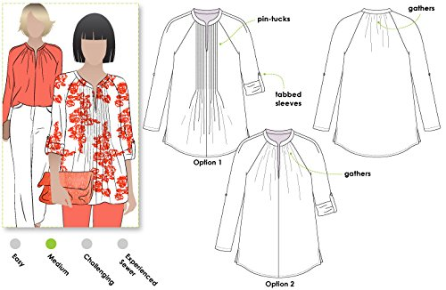 Style Arc Sewing Pattern - Faith Woven Top (Sizes 18-30) - Click for Other Sizes Available