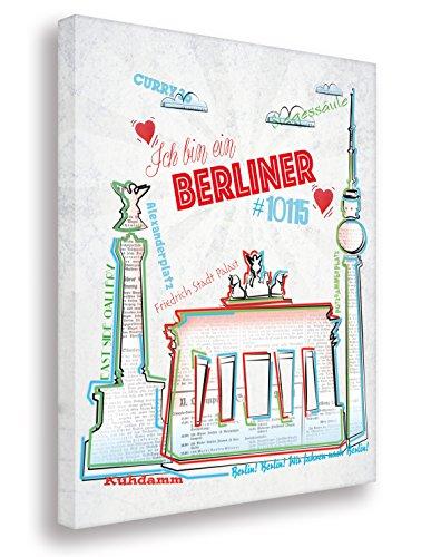 Berlin Collage auf Leinwand/Kunstbilder- Kunst Druck auf Leinwand - vom Kölner Künstler/Wandbilder Art Gemälde Kunstdrucke (30x40cm) …