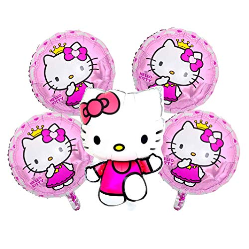 Hello Kitty Girls Geburtstags XL Set Folienballon Kindergeburtstag Geburtstag Folien Ballon Hello Katze Kitty Kinder Party Rosa Pink Dekoration Deko (Hello Kity XL Set)
