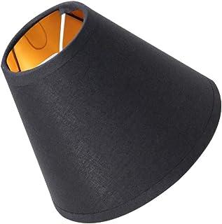 Lurrose 3 Piezas de Pantallas de Lámpara con Clip Pantalla de Lino para Techo Pantalla Simple para Techo de Luz de Pared para El Hogar ()