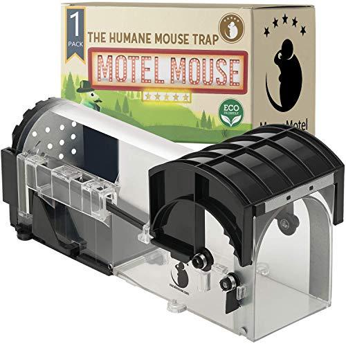 Motel Mouse Trampa para Ratones Sin Muerte - Altamente Sensible - Fácil de Usar - Seguro para Mascotas y niños - Reutilizable - Sin Mecanismo de liberación táctil