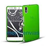 MELOENVIAS Funda Carcasa para BQ AQUARIS X5 Gel TPU Liso Mate Color Verde
