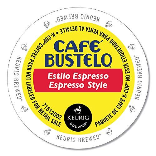 Cafe Bustelo Espresso K Cup Pods for Keurig Brewers, Dark Roast Coffee, Espresso, 24 Count
