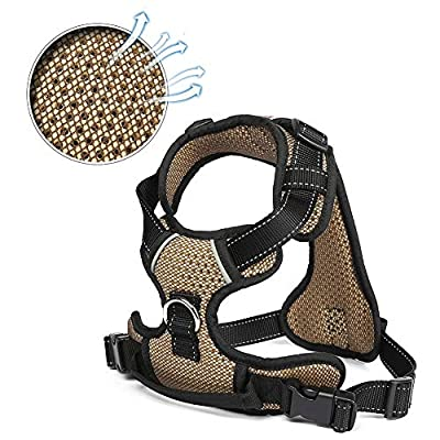 LEWAMALL Front Dog Harness Adjustable, Net Surface Reflective Material Straps, Breathable Harness