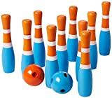 STERLING Wooden Lawn Bowling Blue and Orange