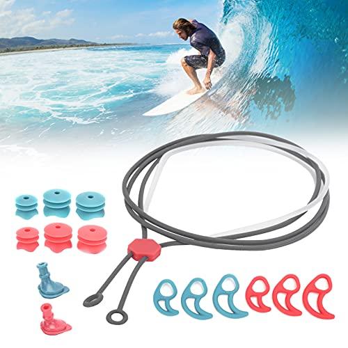 Jopwkuin Tapones para los oídos de Silicona, Tapones para los oídos ecológicos para Surfear para Nadar para niños para Nadador