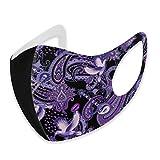 Grand livre de chanson motif cachemire en tissu 3D pour l'extérieur - Style bandana unisexe - Protection du visage - Cagoule - Lavable