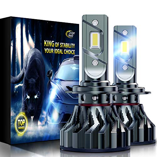 Cougar Motor Flagship H7 LED Bulbs, Super Bright 6500K All-in-One Conversion Kit - Cool White, Super Bright Halogen Replacement