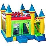 ZCYXQR Tobogán Inflable, Castillo Inflable Grande para niños, Trampolín doméstico para niños, Equipo de Juego al Aire Libre, Niños (Deportes al Aire Libre)