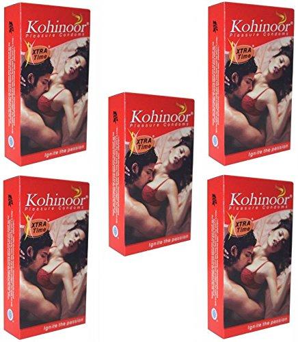 Kohinoor Xtra Time 10'S Condom (Pink) - Set of 5