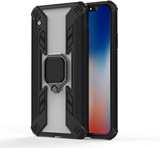Personality Phone Case Iron Warrior Shockproof TPU + PC Protective Case with 360 Degree Rotation Holder, for iPhone Xs Max...