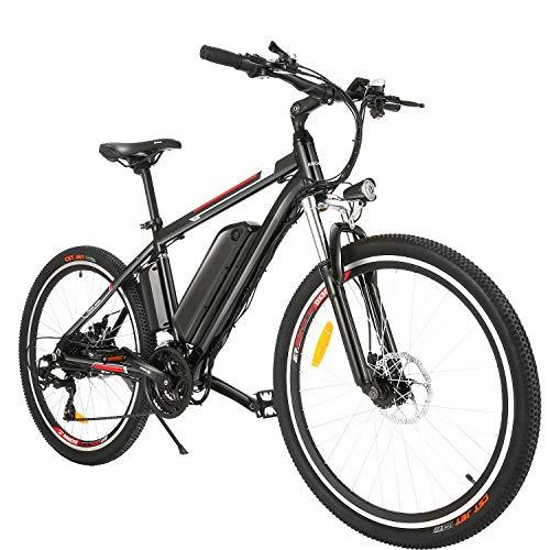 BIKFUN Bicicletta Elettrica, Bici Elettriche MTB da 26'con Batteria al Litio 36V 12,5Ah, Motore 250W, Shimano 21 velocità E-Bike
