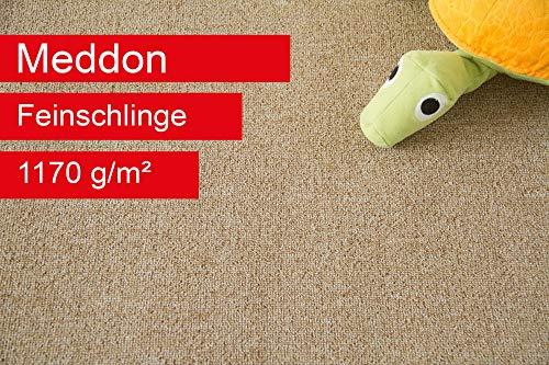 Steffensmeier Teppichboden Meddon Meterware | Auslegware für Kinderzimmer Wohnzimmer Schlafzimmer | Beige, Größe: 400x600 cm