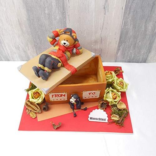 Geldgeschenk Geburtstag, personalisierbar, Schatzkiste mit Bär, Geschenk für Männer, Geschenk zum Geburtstag, Bär,
