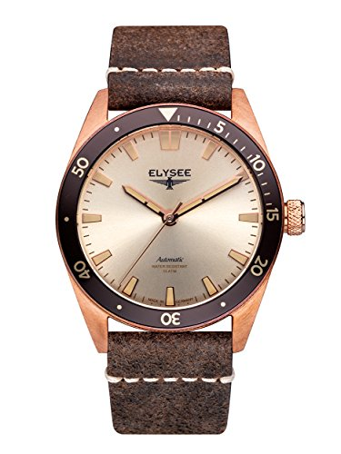 Elysee Bronze Herren Armbanduhr 98011 Sonnenschliff Automatik