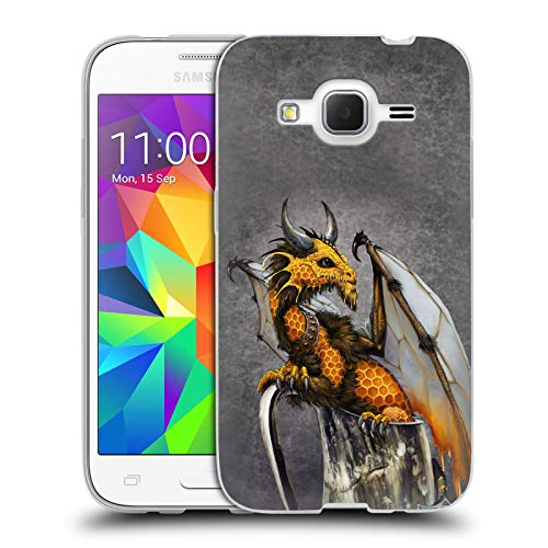 Head Case Designs Officially Licensed Stanley Morrison Honey Mead Drink Dragons Soft Gel Case Compatible with Samsung Galaxy Core Prime