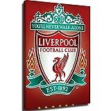 Cuadro de lienzo para sala de estar, diseño de Liverpool Football Club Crest Maxi Posters Lounge Baño Cocina Oficina Dormitorio Decoración 8x12 pulgadas