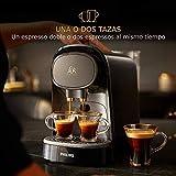 Philips L'OR LM8012/60 Barista - Cafetera compatible con cápsula individual/doble, 19 bares presión, depósito 1L, color negro