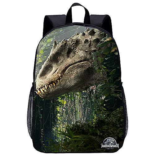 KKASD Zaino per adulti Jurassic World Borsa da scuola per il tempo libero Borsa da scuola per escursionismo, borsa da viaggio traspirante, salvadanaio, 17 pollici