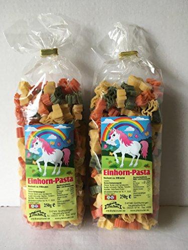Einhorn Motivnudeln Nudeln Pasta 2er Pack 250g Durum Hartweizengrieß