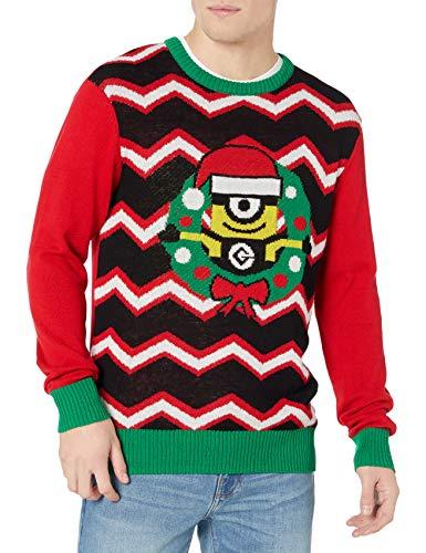 Despicable Me Men's Minion Wreath Sweater