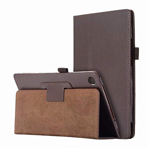 QiuKui Tab Cover For Lenovo Tab P10 TB-X705L 10.1 Inch, Litchi PU Leather Flip Case Stand Tablet Cover For Lenovo Tab P10 TB-X705L 10.1 (Color : Brown)