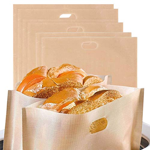 Osuter 14PCS Bolsa Tostadora Antiadherente Reutilizables Bolsas Tostar para Sándwiches de queso a la parrilla Pastelería