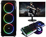 No Doubt Gamer PC AMD Ryzen 5 2600 (16 GB RAM/1 TB Hard Disk/240 GB SSD Capacity/GTX 1050 Ti 4GB Graphics GDDR5) Mini Tower (22 Inch Monitor Gaming Keyboard-Mouse)