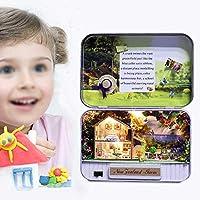 DIYハウス、ハウスモデル、安全なミニチュアドールハウスキット、絶妙なハウスモデルキット、子供のための 女の子子供ガールフレンド