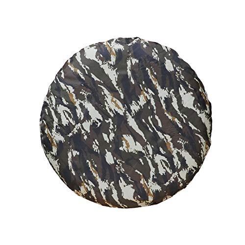 ZZMWLES Cubierta de neumáticos de la Rueda de Repuesto del Polvo de Camuflaje de Trabajo Pesado Universal 14'15' 16'17' Accesorios Exteriores de Auto Coche Grueso (Color : 15 Inch)