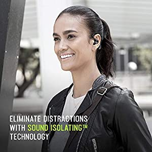 Shure AONIC 215 True Wireless Sound Isolating Earbuds, Premium Audio Sound with Deep Bass, Bluetooth 5, Secure In-Ear Fit, Long Battery Life with Charging Case, Fingertip Controls - Black [New Update]