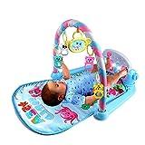 KEIBODETRD Gimnasio-Piano Pataditas,Manta Juegos Bebe,Baby Pedal Piano Body Building Instrument - para Recién Nacido Baby Music Game Blanket Toy Ringing Bell - Baby Fitness Game Pad
