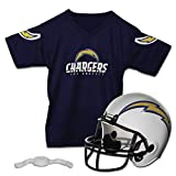 Franklin Sports NFL Los Angeles Chargers Kids Football Helmet and Jersey Set - Youth Football Uniform Costume - Helmet, Jersey, Chinstrap - Youth M