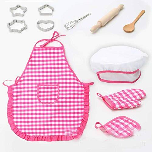 N-B Juego de Chef de 11 Piezas, Juego de Roles, Cocina para niños, Cocina, Hornear, Juguetes para niñas, Juego de Cocina, Juego de Amigos