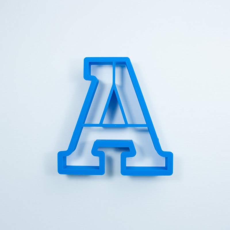 Frosted Cookie Cutters Block Letter Alphabet Cookie Cutter Set Large 4 In