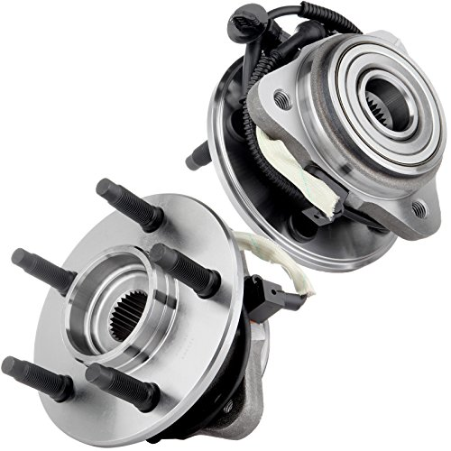 ECCPP New Front Wheel Hub Bearing Assembly 515003 fit for Ford Explorer (Sport Trac) Ranger, Mercury Mountaineer, Mazda B3000 B4000 4WD w/ABS 5 Lug 3 Flange Bolt 2pcs