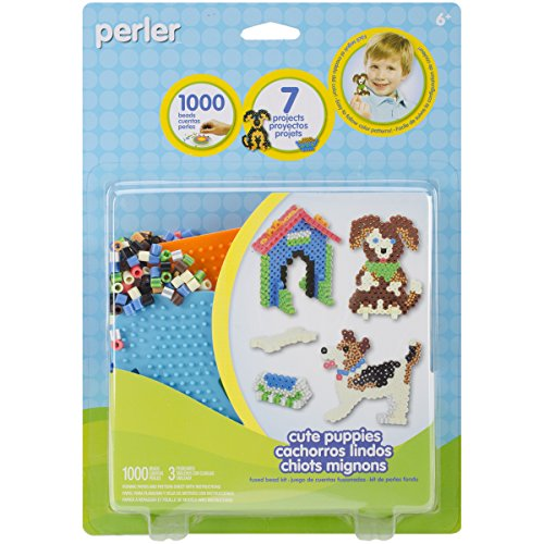 Perler Beads 'Cute Puppies' Fuse Bead Activity Kit for Kids, 1003 pcs