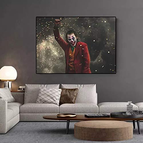 JHGJHK Arte Moderno Pintura al óleo Payaso película Heath Ledger Pintura al óleo hogar Sala de Estar decoración Pintura 1