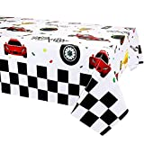3 Pack Racing Car Plastic Table Cover Car Theme Party Decorations, Disposable Plastic Rectangular Table Covers, Racing Car Parties Tablecloth Summer Beach Kids Birthday Cocktail Party Supplies