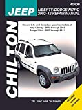 2002-2012 Jeep Liberty & 2007-2011 Dodge Nitro Repair Manual by Chilton