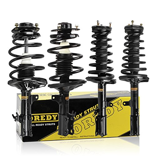 OREDY Complete Struts Shocks Assembly Full Set of 4 Front and Rear Struts 11182 171678 G56930 SR4030 Replacement for Toyota Camry 4CYL 1997-2001/Toyota Solara 4CYL 1999-2003
