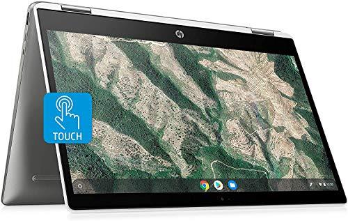 "HP X360 14 Chromebook Laptop Computer 14"" HD SVA Touch Display Intel Pentium Dual-Core N5000 Processor 4GB DDR4 128GB eMMC WiFi Webcam Chrome OS 14b-ca0061wm (Renewed)"