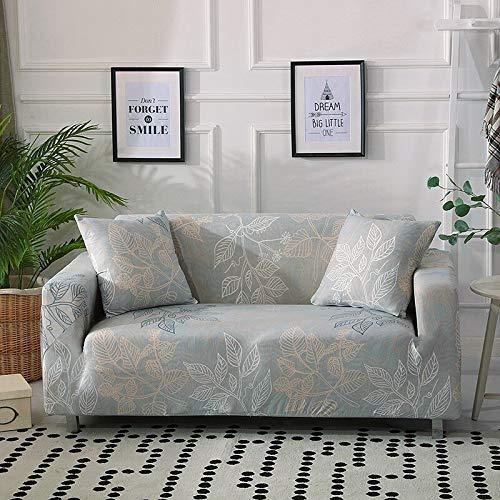Funda para sofá Funda elástica para sofá Sillón Sofá Funda de Licra para Esquina de Sala de Estar Sofá seccional en Forma de L A19 3 plazas