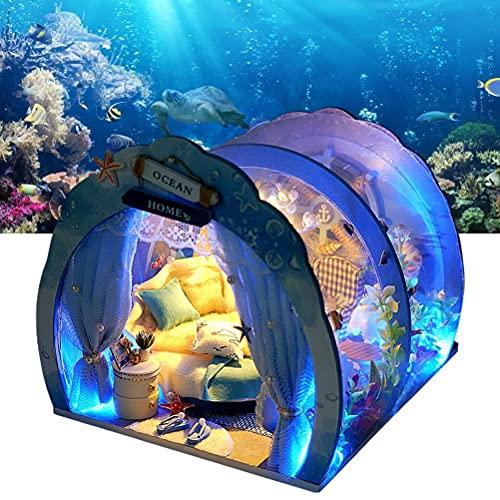 Oyria Casa de muñecas Modelo 3D, casa de muñecas de Bricolaje, casa de muñecas en Miniatura con Muebles, Kit de habitación de Muebles de océano en Miniatura, Regalo para Tus Amigos, niños y Amantes