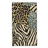 CIKYOWAY Juegos de Toallas Animal Zebra Tiger Print Toallas de Mano multipropósito para baño,Manos,Cara,Gimnasio y SPA Absorbente Suave 40x70cm