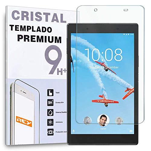 REY Protector de Pantalla para Lenovo Tab 4 8', Cristal Vidrio Templado Premium