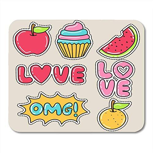Muismat Badge kleurrijke Love schattige meisjes patch wandlamp Cartoon Mouse pad voor laptops, desktops computers