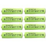 BuyaBattery AA 1.2v 300mAh NiMH Rechargeable Solar Light Batteries for Outdoor Garden Solar