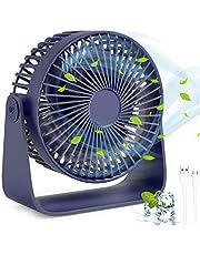 Mini Desk Fan met USB, TedGem USB Fan USB Desktop Ventilator, 360 ° Rotatie Rustige USB Fan Kan Zet Aromatherapie Oliën, Blaas Geurige Wind, Tafelventilator USB voor Thuis, Kantoor, Reizen, USB Aangedreven (3 Speeds)