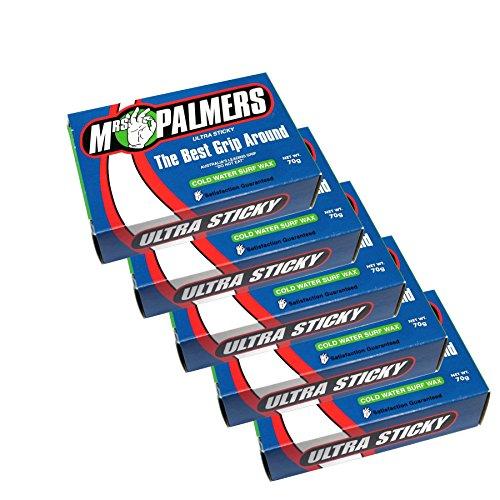 Mrs Palmers–Unisex–Cera fría para tabla de surf Five Pack Talla:talla única